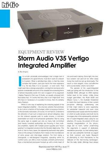 Storm Audio V35 Vertigo Integrated Amplifier - kog audio