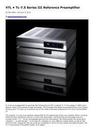 VTL • TL-7.5 Series III Reference Preamplifier - kog audio