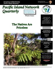 Pacific Island Network Quarterly - The Kohala Center