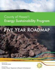 County of Hawai'i Energy Sustainability Program Five Year Roadmap