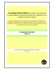 Learning from Others:Synthesis of Experiences in Garden-Based ...
