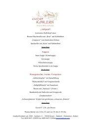 Speisekarte à la carte (pdf) - Kohlern