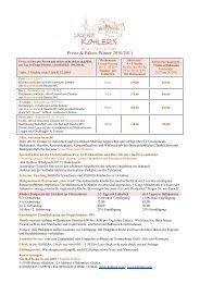 Preise & Pakete Winter 2010-2011 - Kohlern