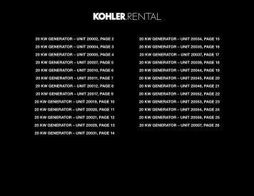 20 kw generator - Kohler Power