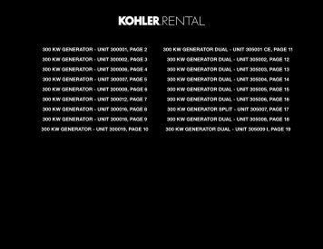 300 KW GENERATOR - Kohler Power