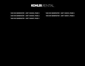 1500 KW GENERATOR - Kohler Power