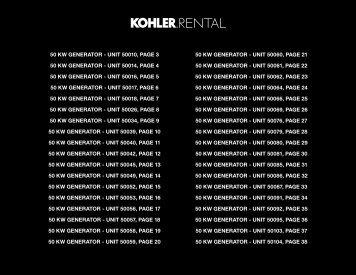 50 kw generator - Kohler Power
