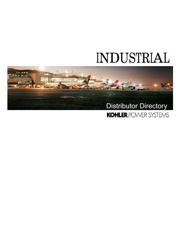Industrial Distributor Directory - Kohler Power