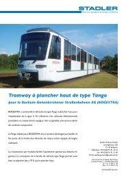 Tramway à plancher haut de type Tango