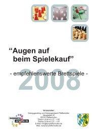 10Augen auf beim Spielekauf 2008.cdr - KoJa