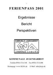 FERIENPASS 2001 - KoJa