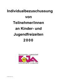 und Jugendfreizeiten 2000 - KoJa