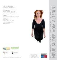 Flyer Ausstellung Neue Bilder vom Alter(n) - Demografische Chance