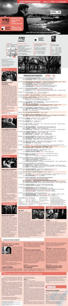 VERANSTALTUNGEN I APRIL I 06 - Kommunales Kino