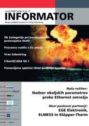 37. številka revije Informator - Kolektor Synatec