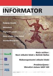 40. številka revije Informator - Kolektor Synatec