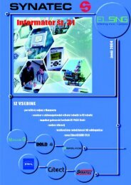 31. številka revije Informator - Kolektor Synatec