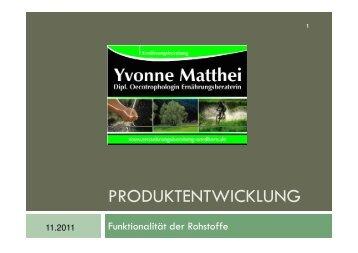 VL Produktentwicklung Rohstoffe