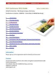 DLA Conference 2013 Guide - Hochschule Anhalt