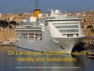 On Landscape Approach, Cultural Identity and Sustainability