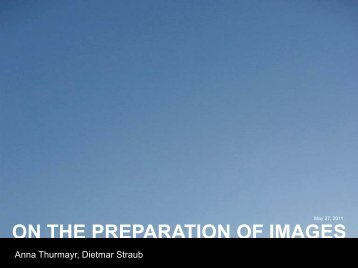 ON THE PREPARATION OF IMAGES
