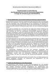 Positionspapier zur Novellierung des Baugesetzbuchs und des ...
