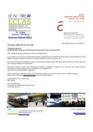 CODE LE:NOTRE+ECLAS Summer School 2011 DLA Conference ...