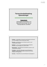 Tierseuchenbekämpfung Epizootiologie