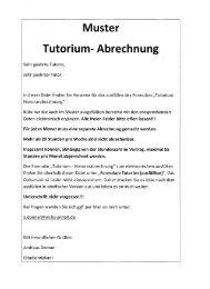 Muster Tutorium- Abrechnung - Hochschule Anhalt