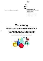 Vorlesung Schließende Statistik - Hochschule Anhalt