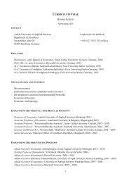 CURRICULUM VITAE Anhalt University of Applied Sciences h ...