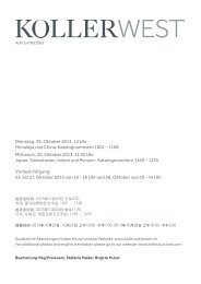 Dienstag, 29. Oktober 2013, 14 Uhr Himalaya und ... - Koller Auktionen