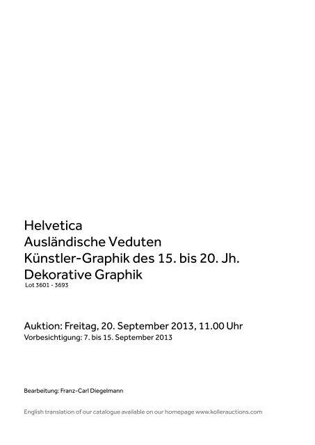 PDF Alte Graphik - Koller Auktionen