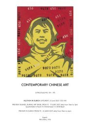 CONTEMPORARY CHINESE ART - Koller Auktionen