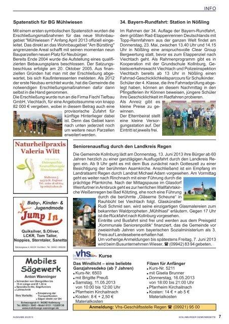 Gemeindebote Ausgabe 40.pdf (1.608 kb) - Kollnburg