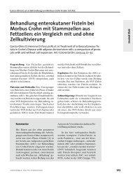 Behandlung enterokutaner Fisteln bei Morbus Crohn mit ...
