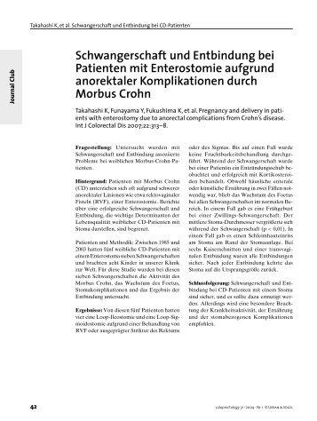Schwangerschaft und Entbindung bei Patienten mit Enterostomie ...