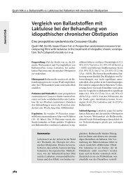 Vergleich von Ballaststoffen mit Laktulose bei der Behandlung von ...