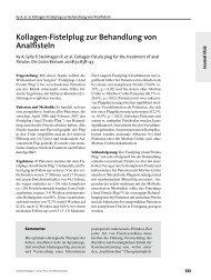 Kollagen-Fistelplug zur Behandlung von Analfisteln