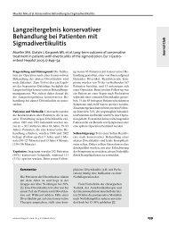 Langzeitergebnis konservativer Behandlung bei Patienten mit ...