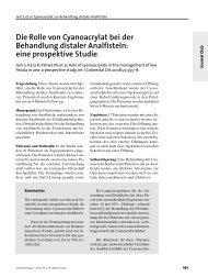 Die Rolle von Cyanoacrylat bei der Behandlung distaler Analfisteln ...