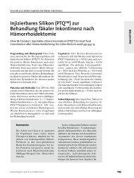 Injizierbares Silikon (PTQTM) zur Behandlung fäkaler Inkontinenz ...