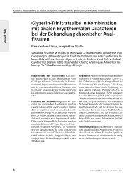 Glyzerin-Trinitratsalbe in Kombination mit analen kryothermalen ...