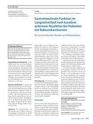 Gastrointestinale Funktion im Langzeitverlauf nach kurativer ...
