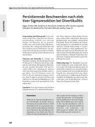 Persistierende Beschwerden nach elek- tiver Sigmaresektion bei ...