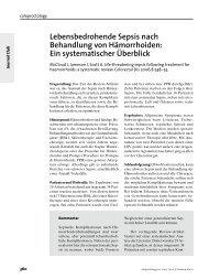 Lebensbedrohende Sepsis nach Behandlung von Hämorrhoiden ...