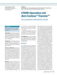 STARR-Operation mit dem Contour® Transtar™ - Springer