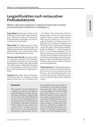 Langzeitfunktion nach restaurativer Proktokolektomie