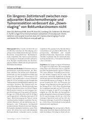 coloproctology 1·04 - Deutsche Gesellschaft für Koloproktologie eV