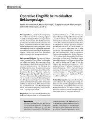 Operative Eingriffe beim okkulten Rektumprolaps
